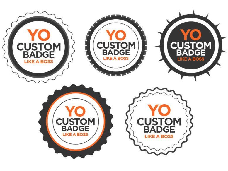 fully editable free vector badges