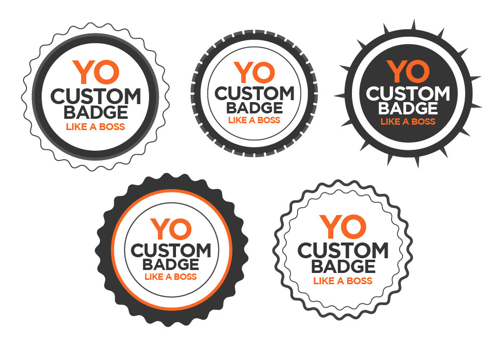fully editable free vector badges