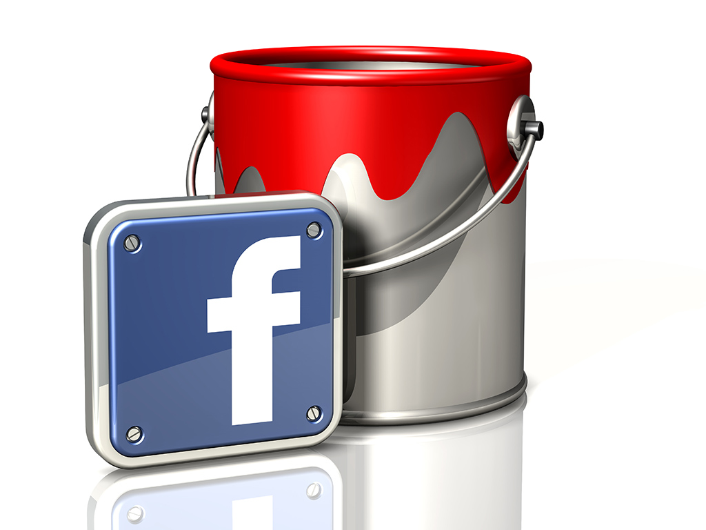 paint bucket and Facebook app icon