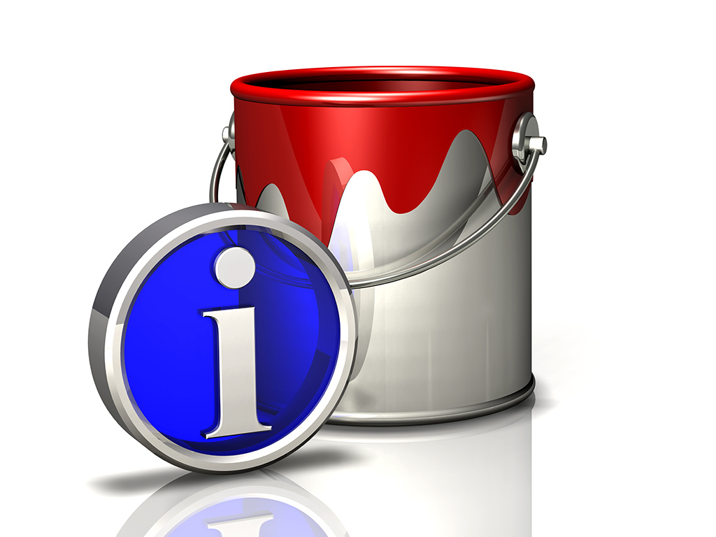 paint bucket and info symbol