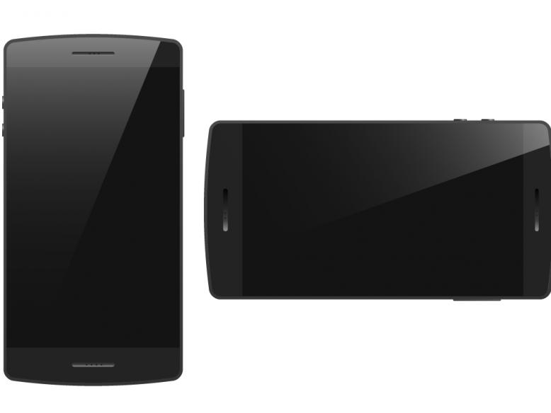 vector black generic smartphone landscape portrait