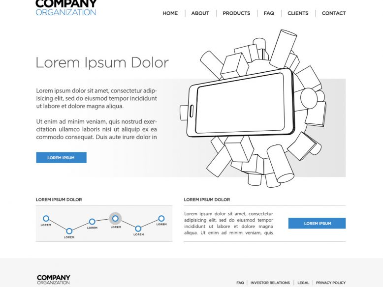 website wireframe psd