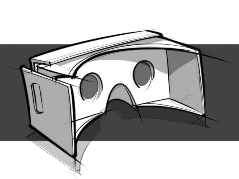google goggles hand sketch