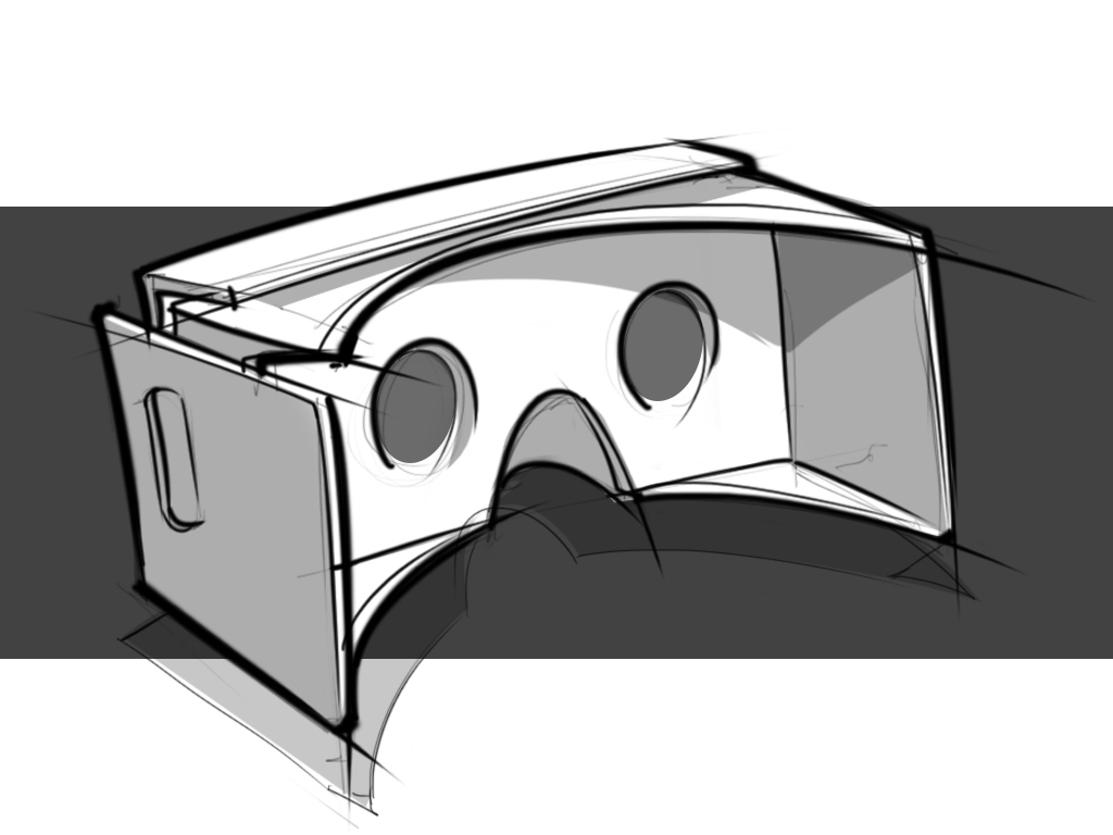 google goggles hand sketch