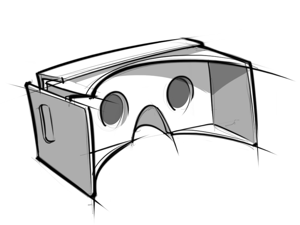 google cardboard goggles drawing