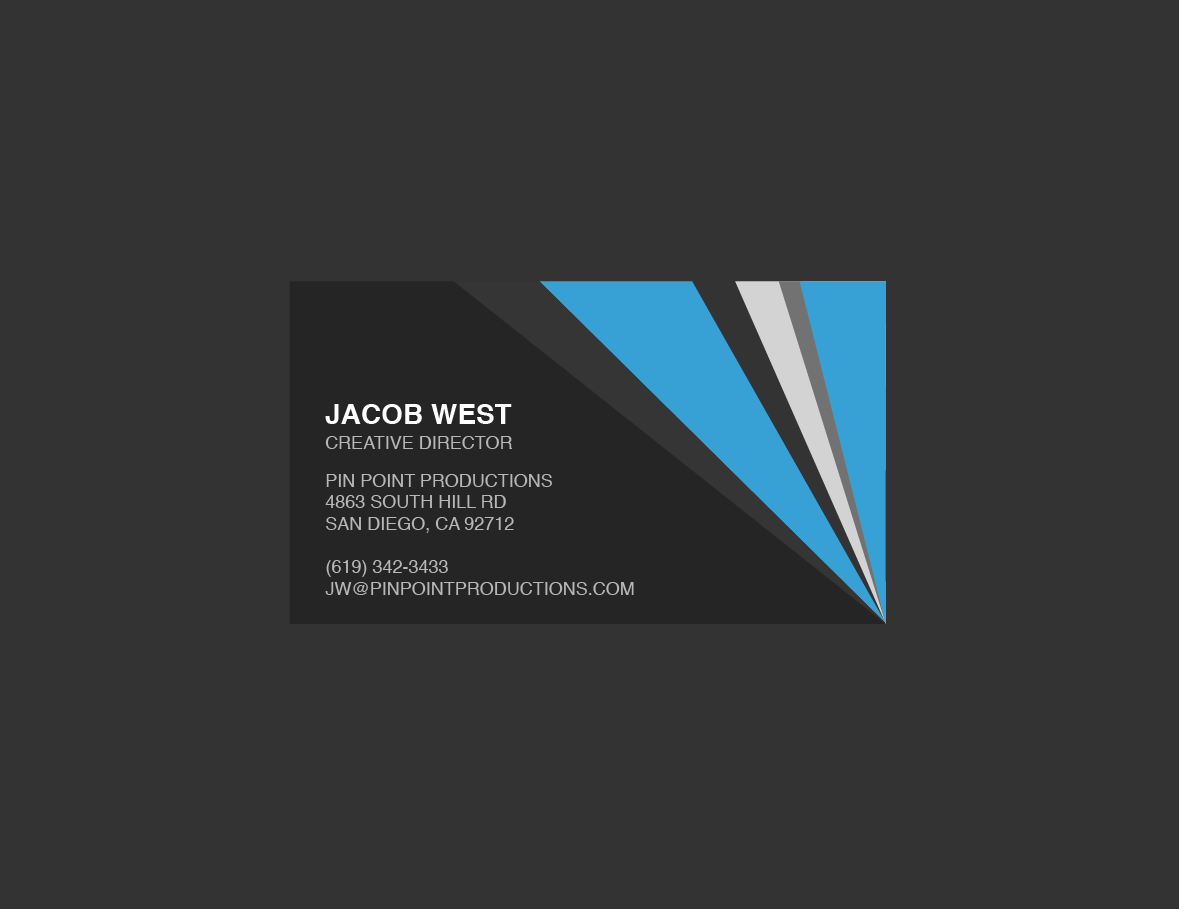 Dark gray and blue generic business card template trashedgraphics pin point business card template accmission Gallery