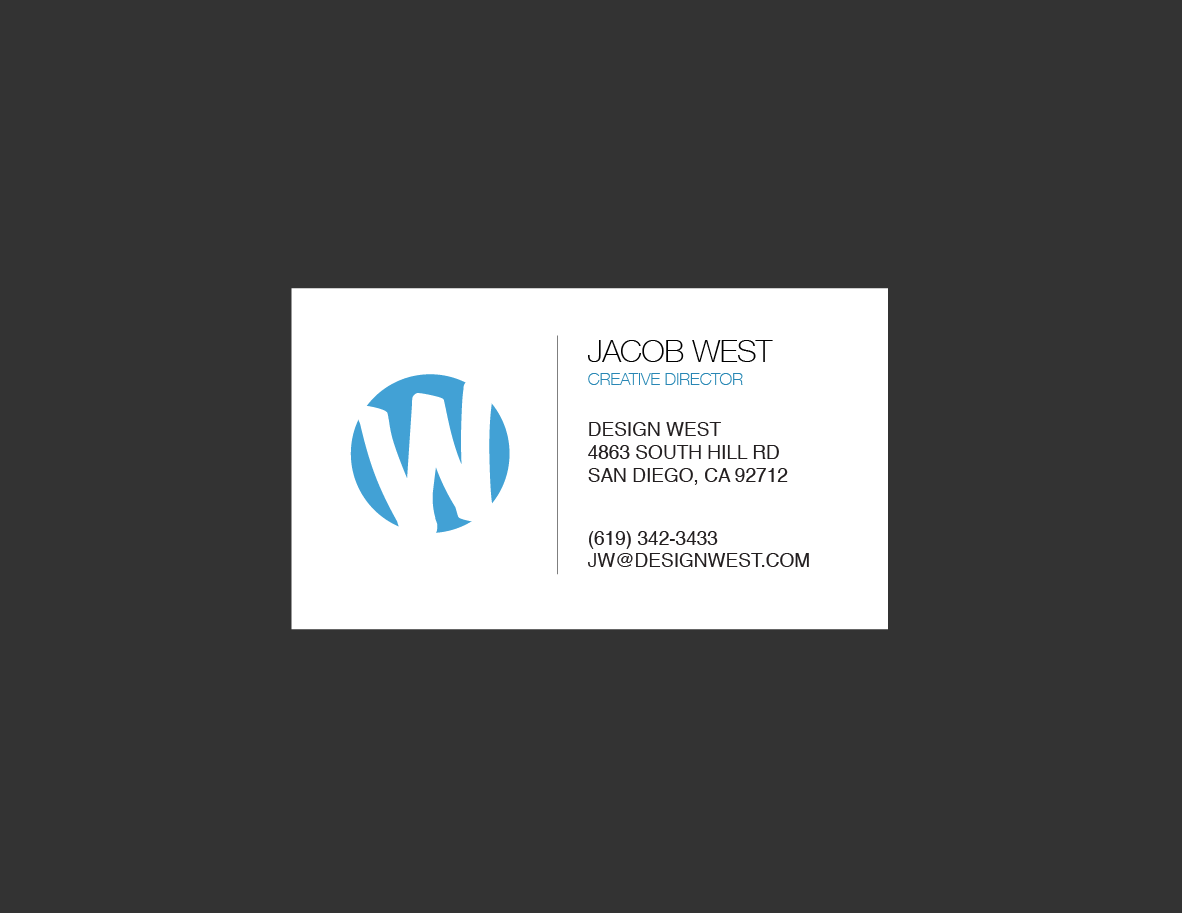 simple and clean business card design trashedgraphics