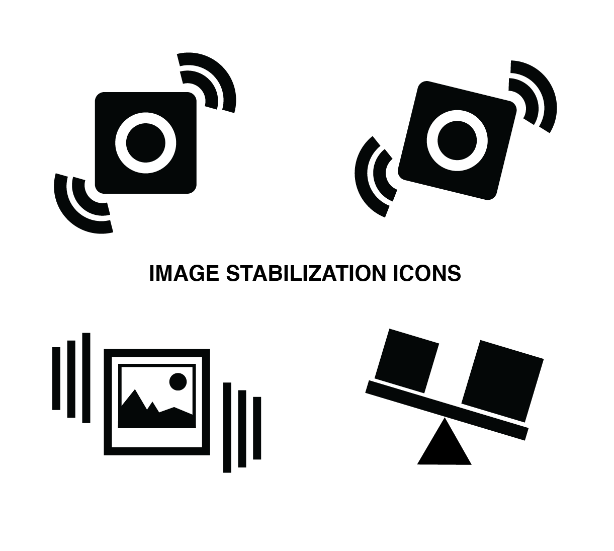 simple image stabilization icon set