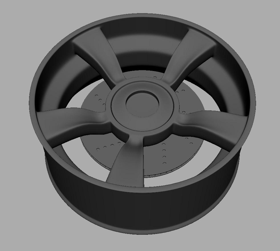 maya 3d wheel