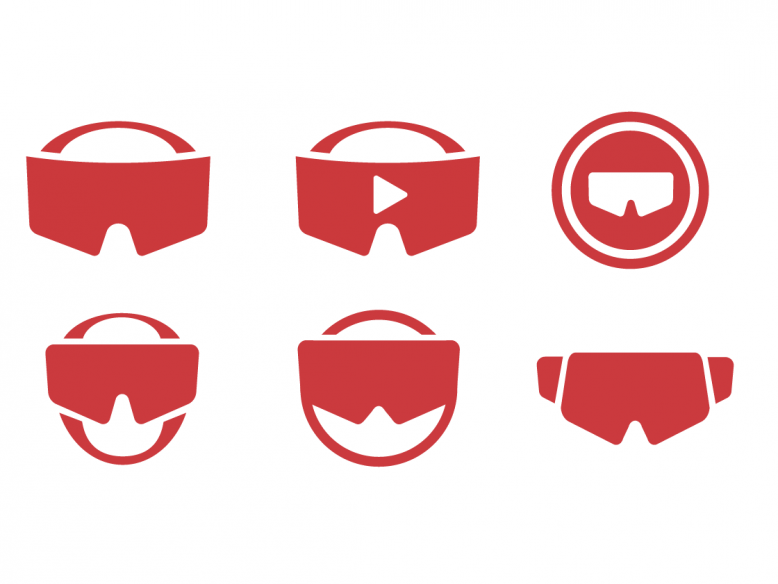 vector VR headset icons