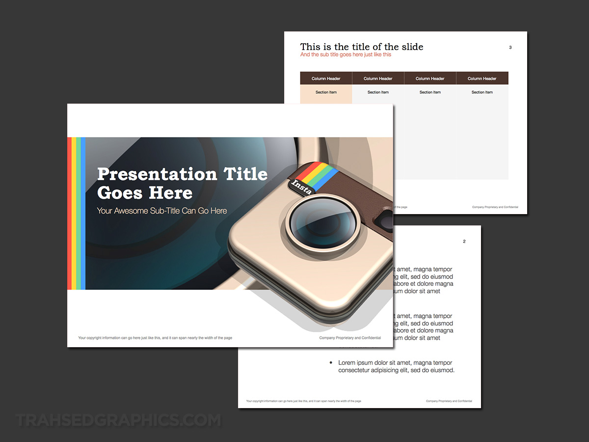 retro Instagram PowerPoint template