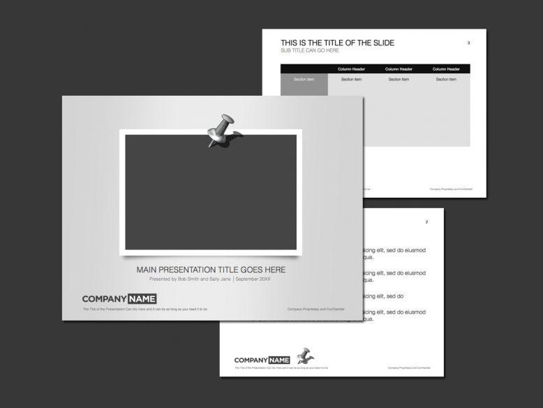 silver photo theme powerpoint