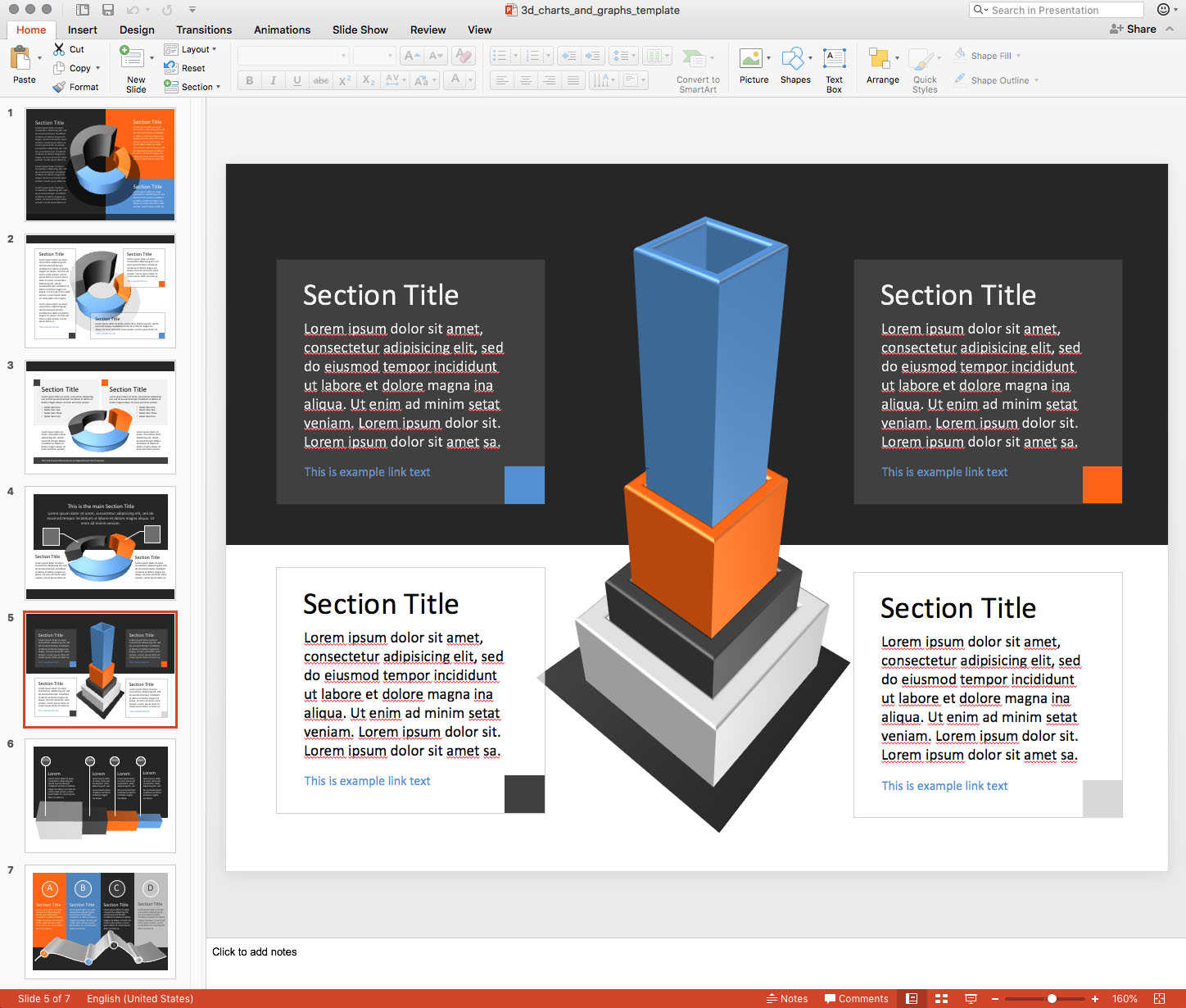 collection of 3d shapes for PowerPoint