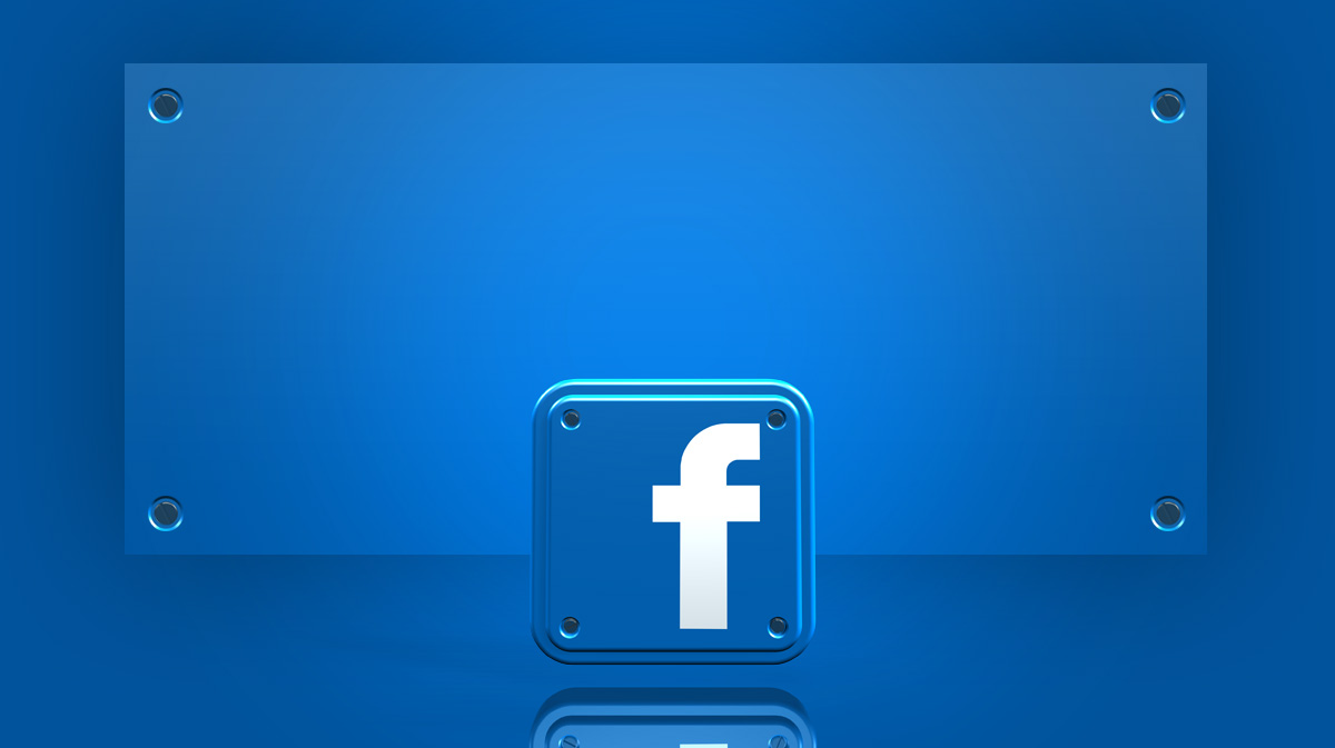 widescreen powerpoint template with 3d facebook app icons, Modern powerpoint