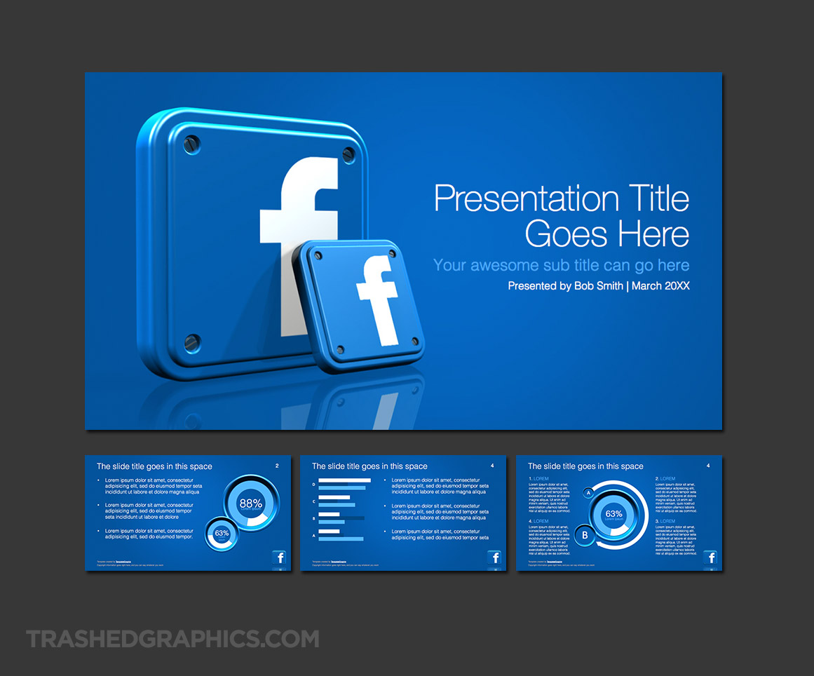 16:9 widescreen Facebook PowerPoint template