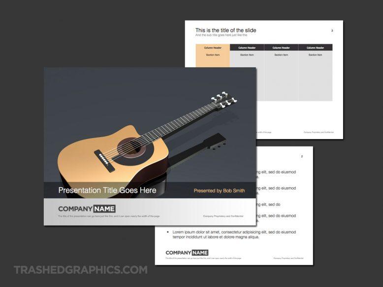 acoustic guitar presentation theme slides