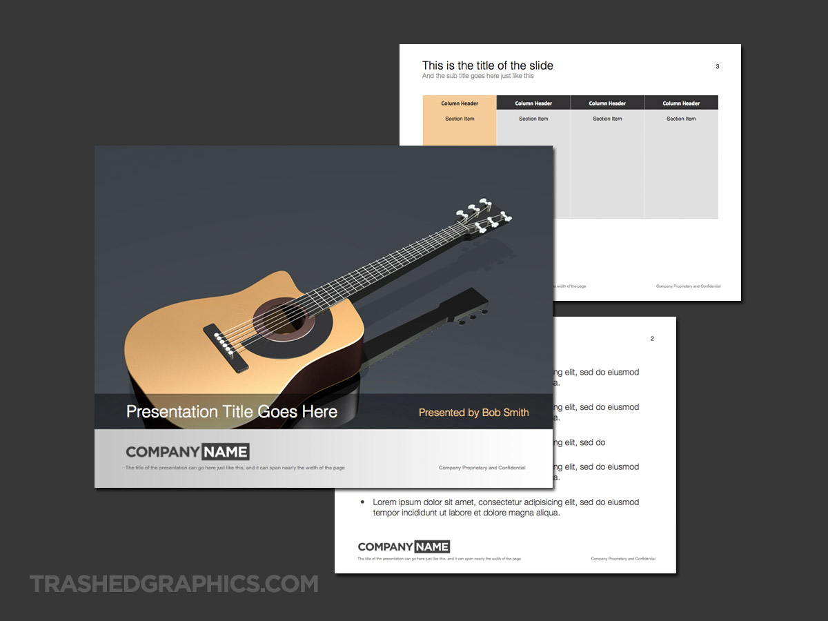 acoustic guitar presentation theme slides