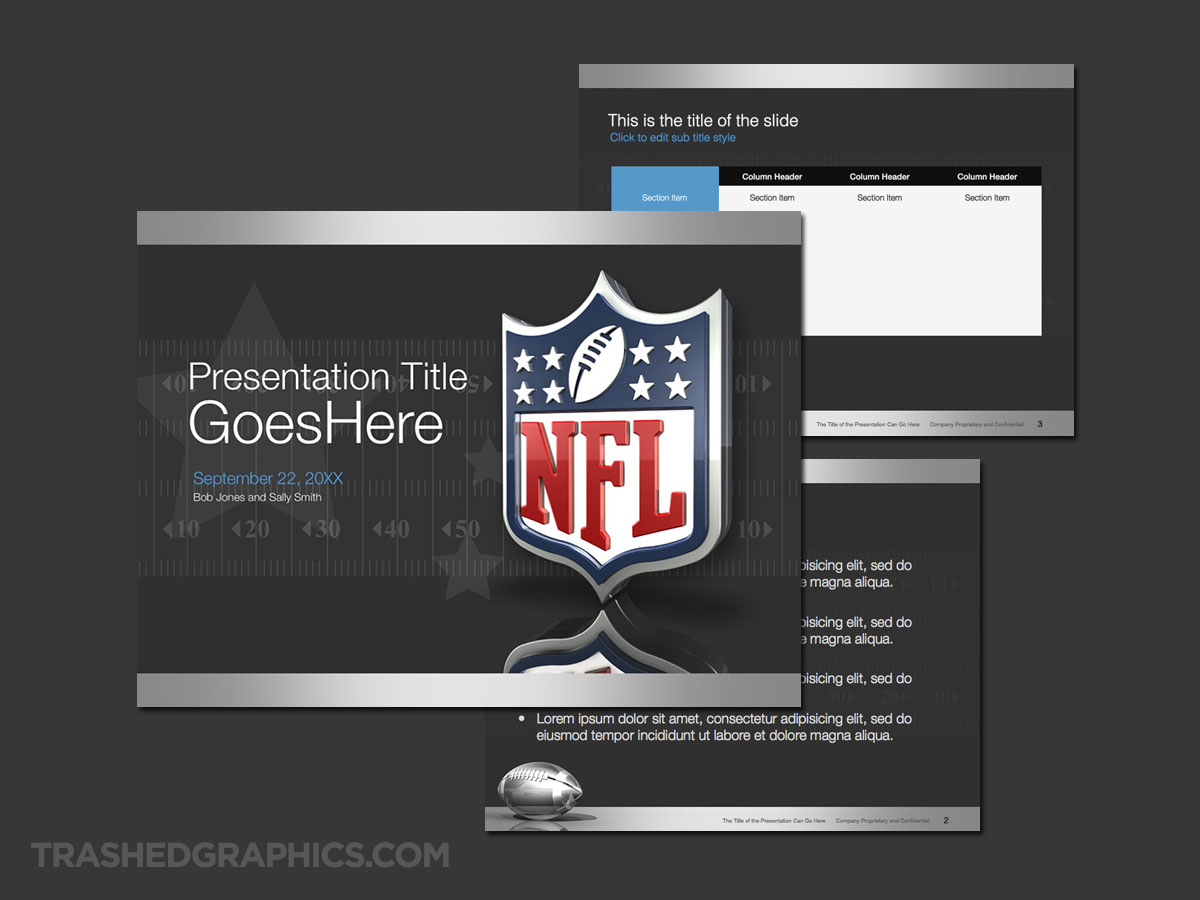 Nfl Football Powerpoint Template Trashedgraphics