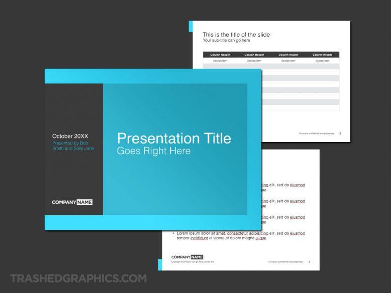 flat design keynote template
