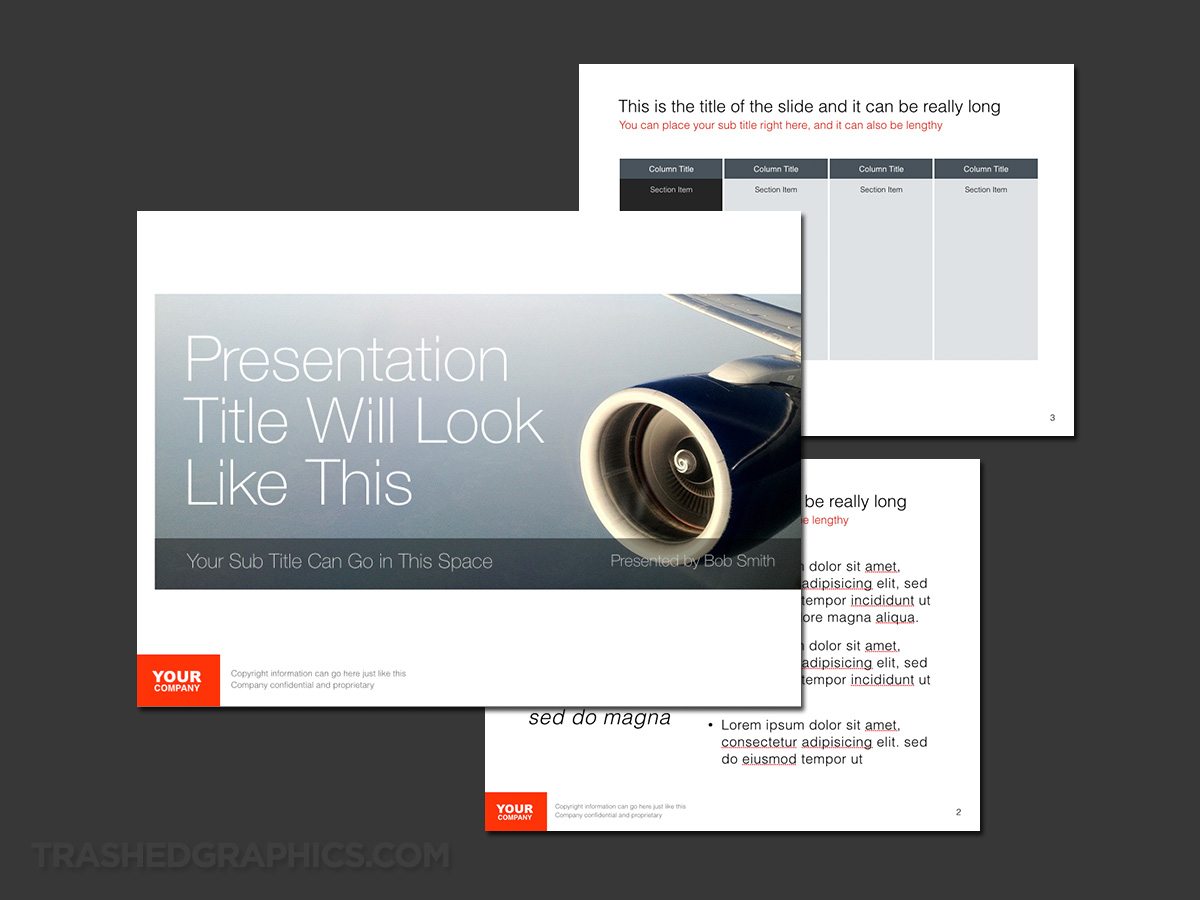 air travel keynote template