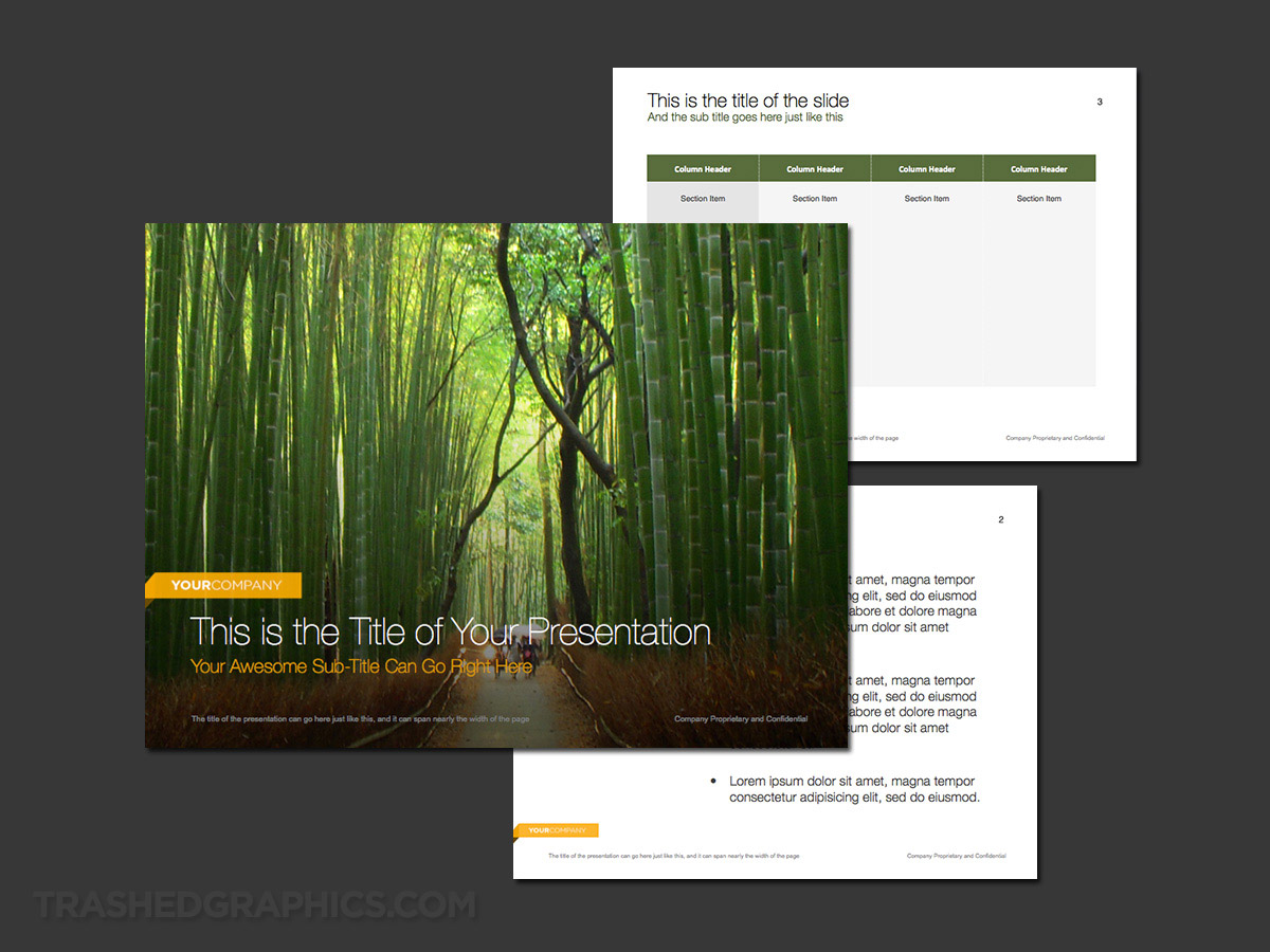 3-page powerpoint template for nature lovers