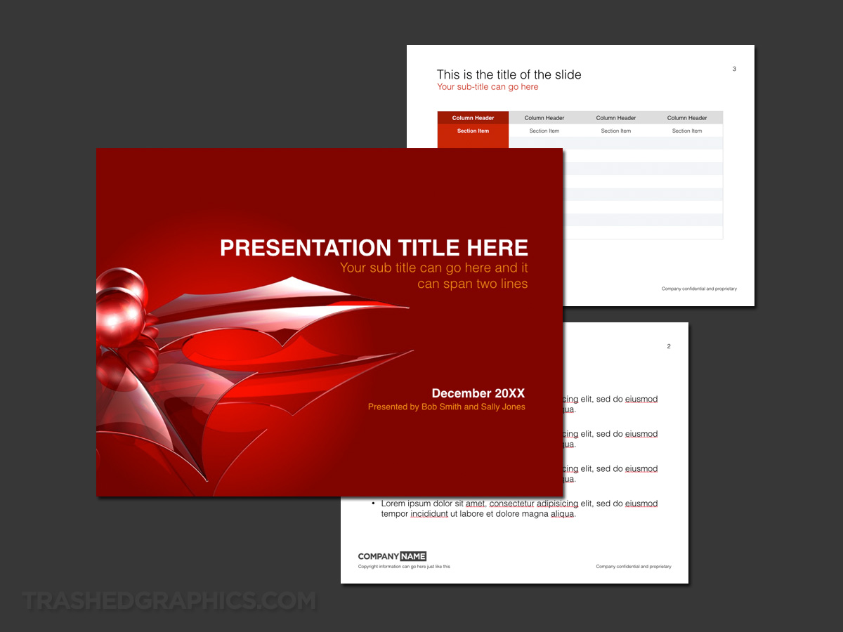 Christmas and holiday theme for keynote