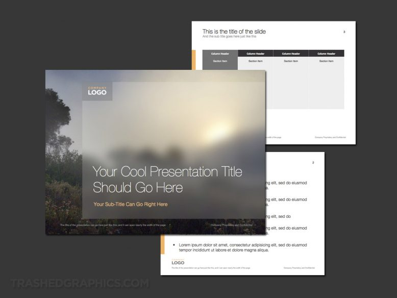 Foggy nature scenery powerpoint template