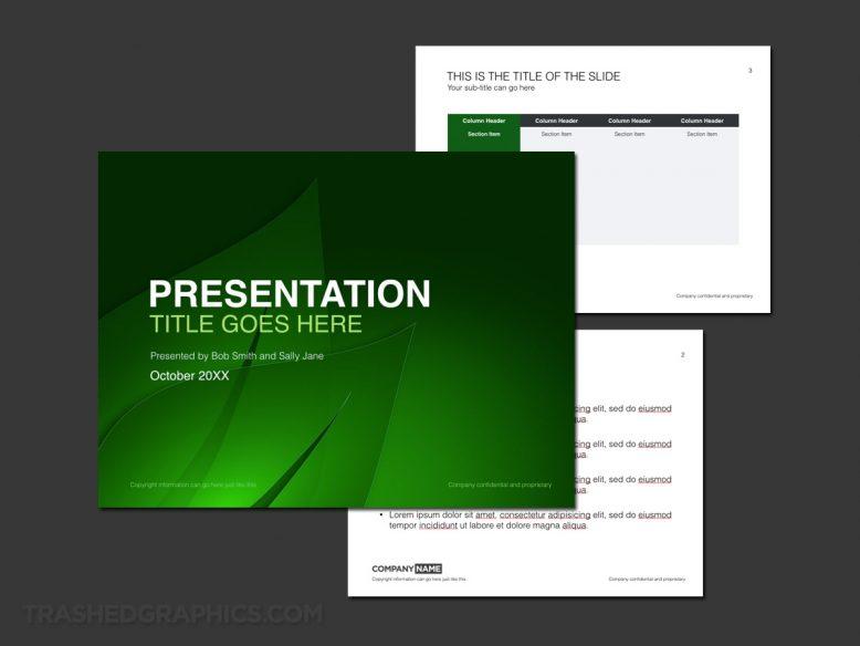 Green leaf keynote template