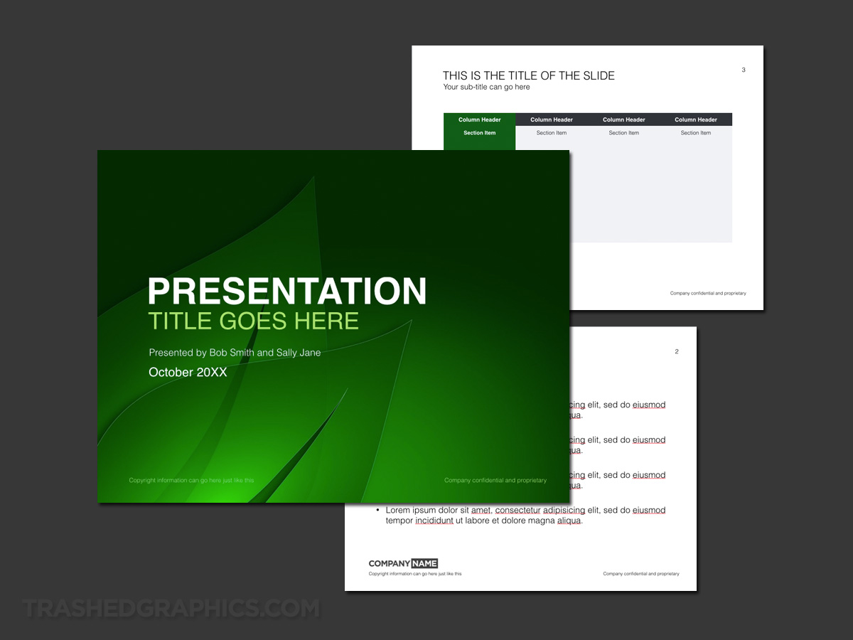 Green leaf keynote template