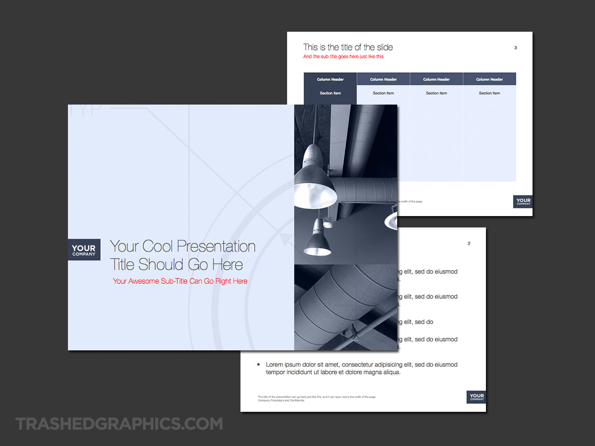 3-page industrial powerpoint template