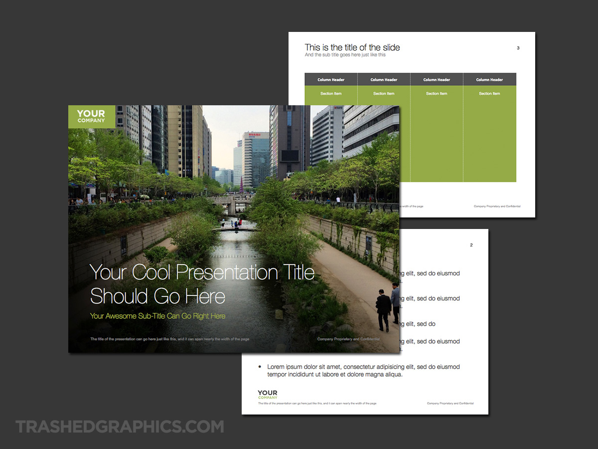 Seoul south korea powerpoint template