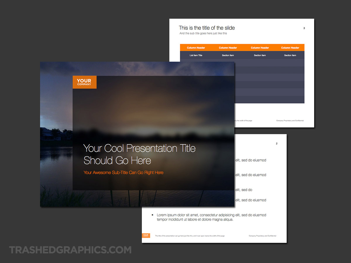 sunset and nature powerpoint template