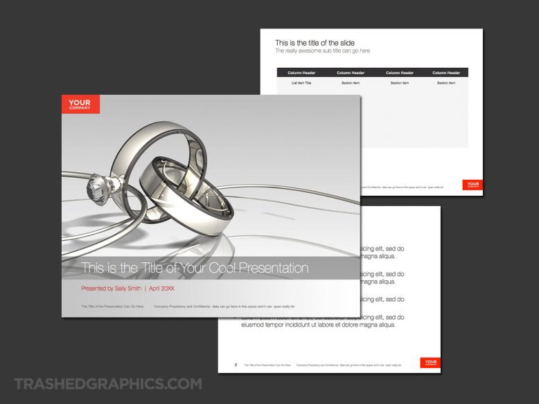 powerpoint template for wedding planners