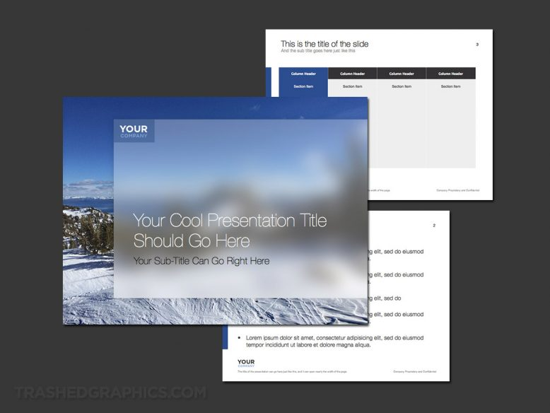 snow and winter powerpoint template