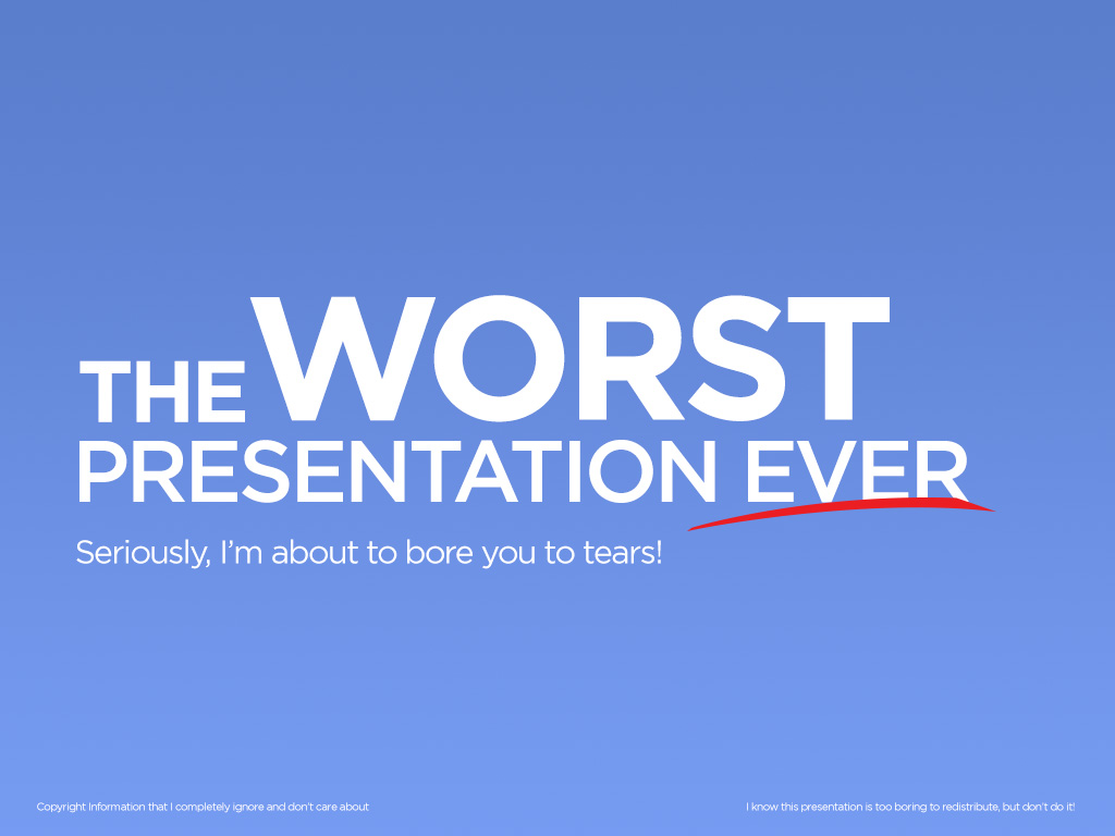 The worst slide deck ever