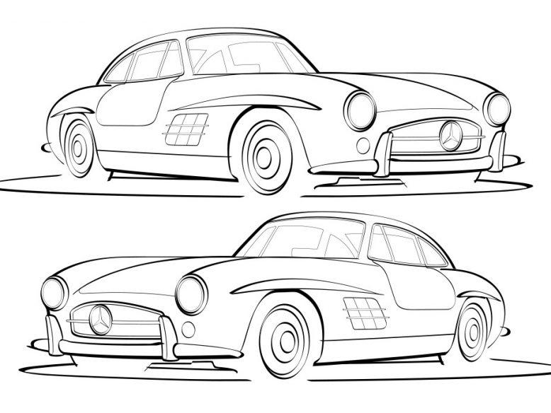 Mercedes Benz 300sl vector illustration
