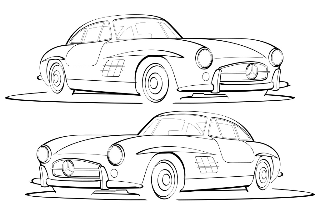 Mercedes Benz 300sl vector illustration