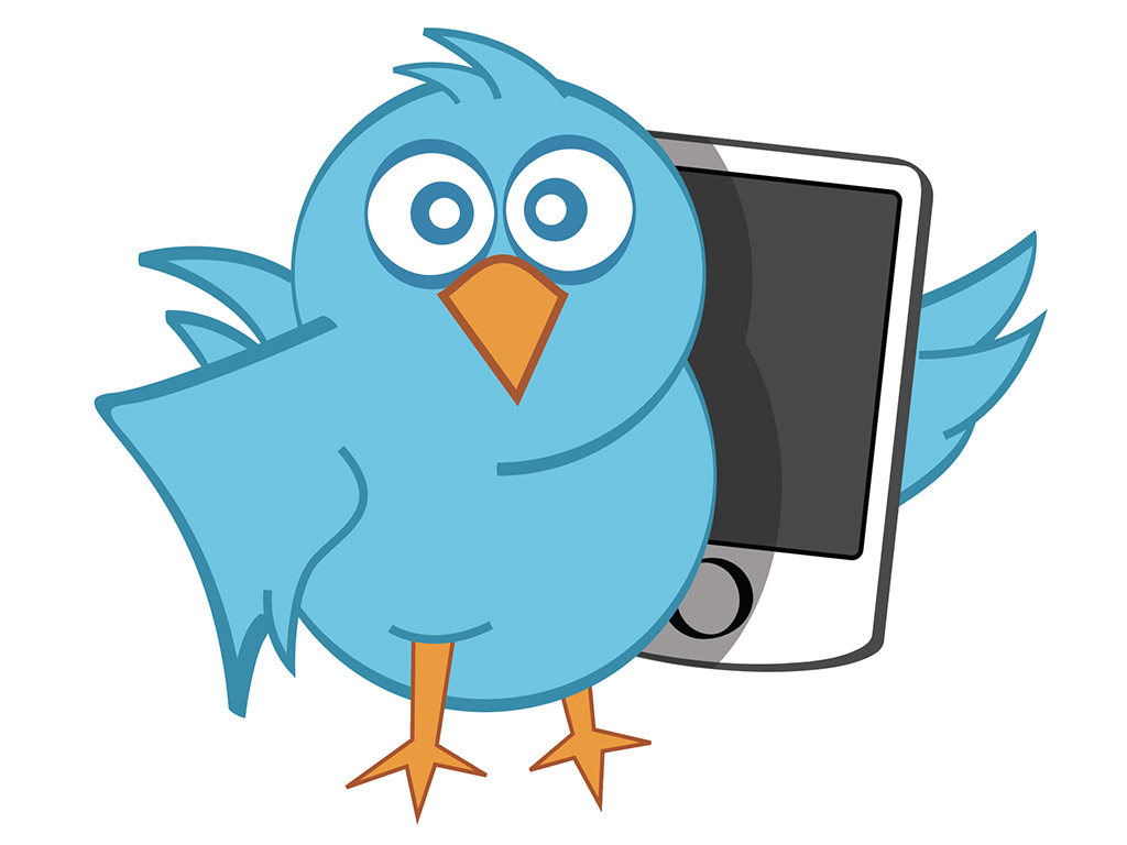 Twitter bird vector illustration