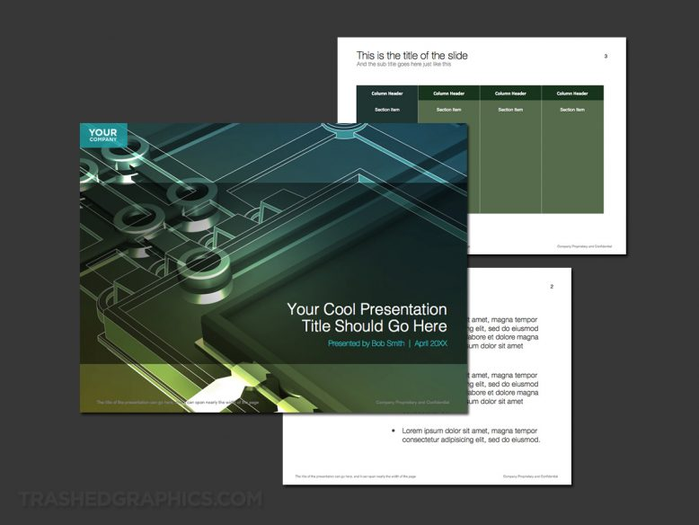 High tech manufacturing PowerPoint theme