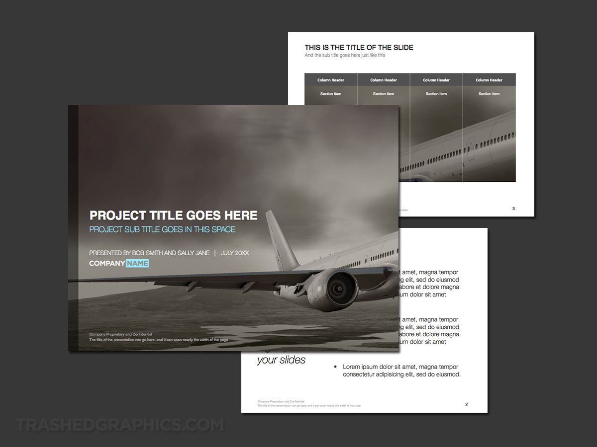 presentation template commercial airline industry