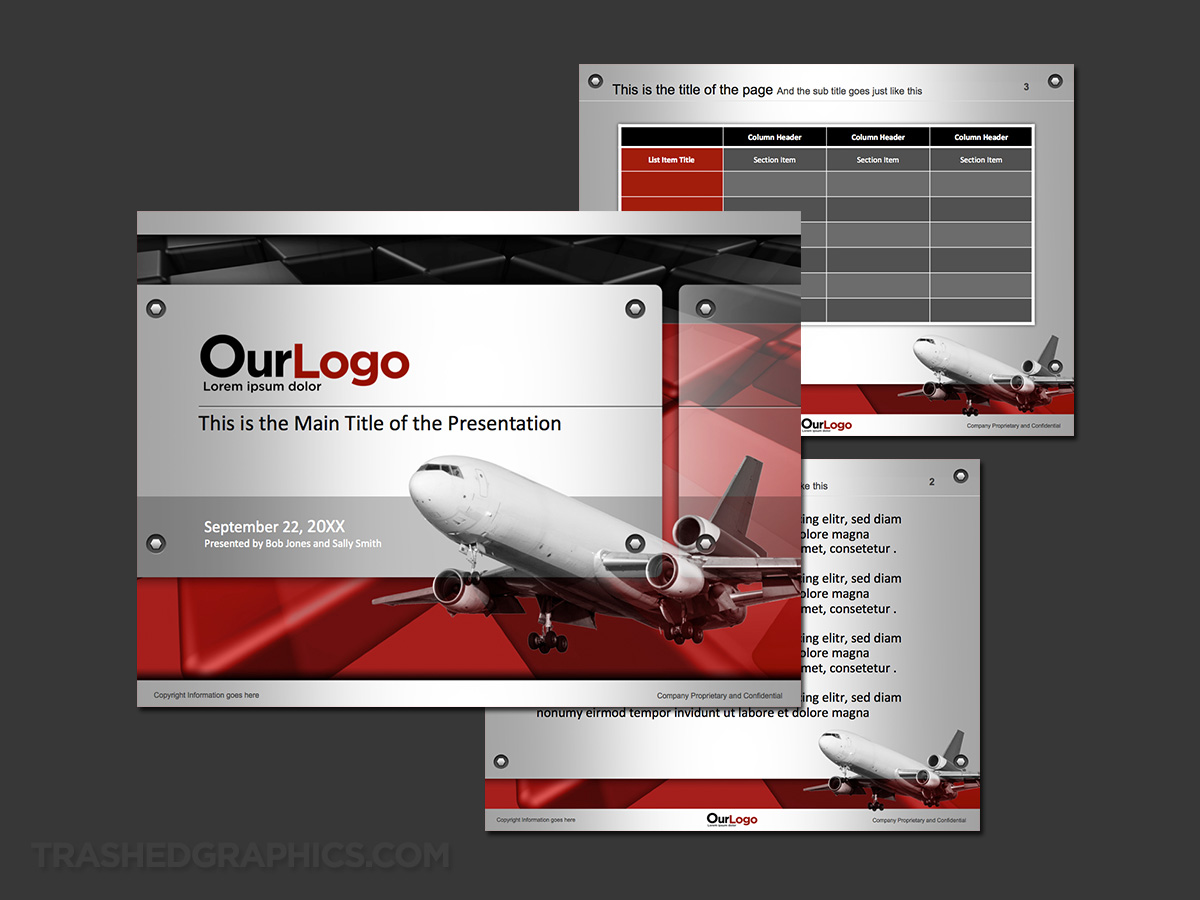powerpoint template for air cargo company