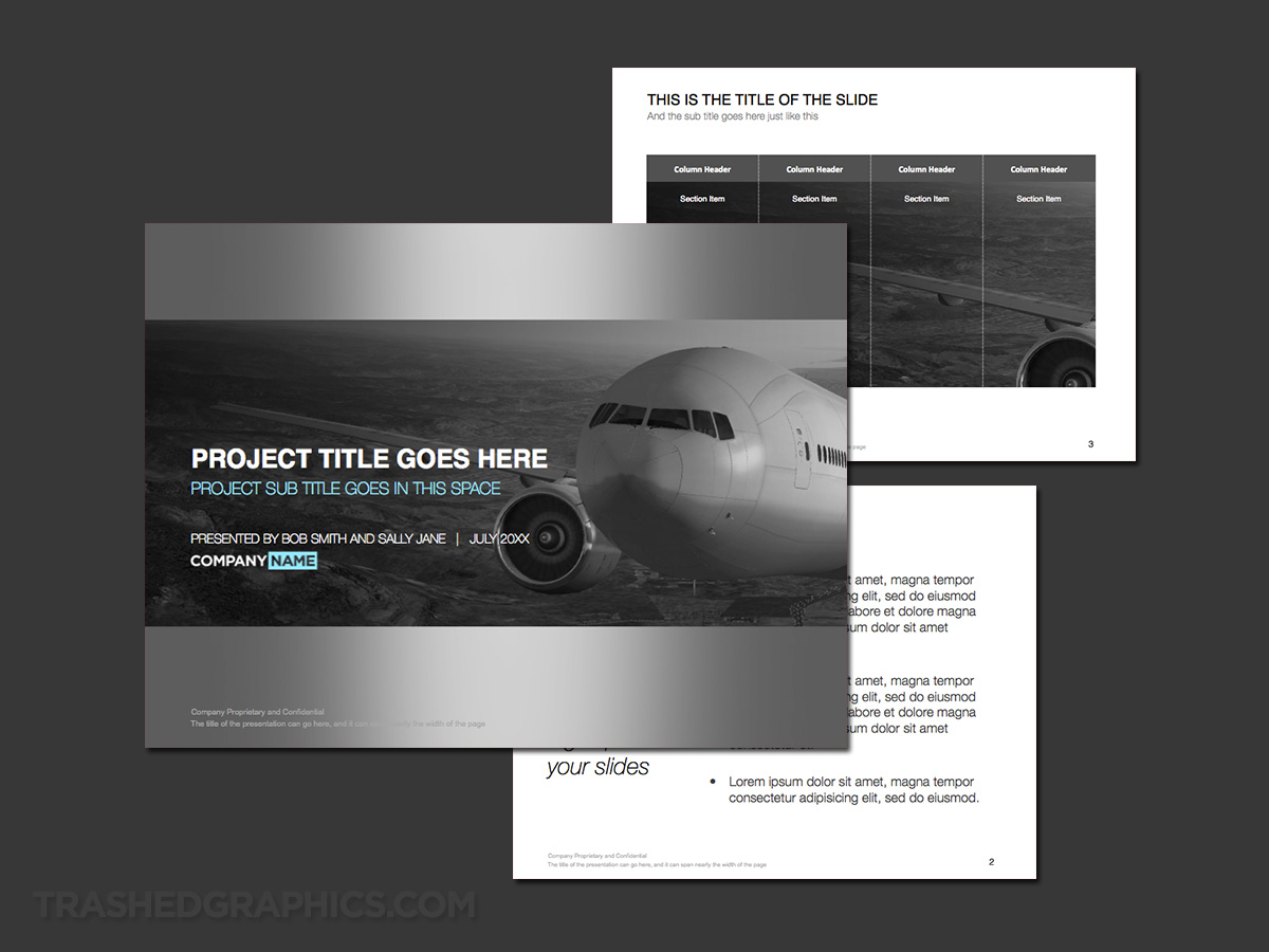 powerpoint template for cargo company