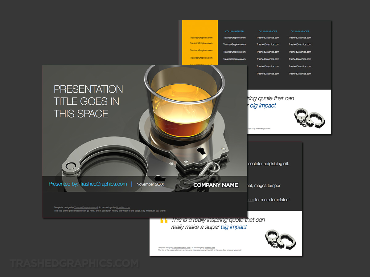 Drinking and driving powerpoint template