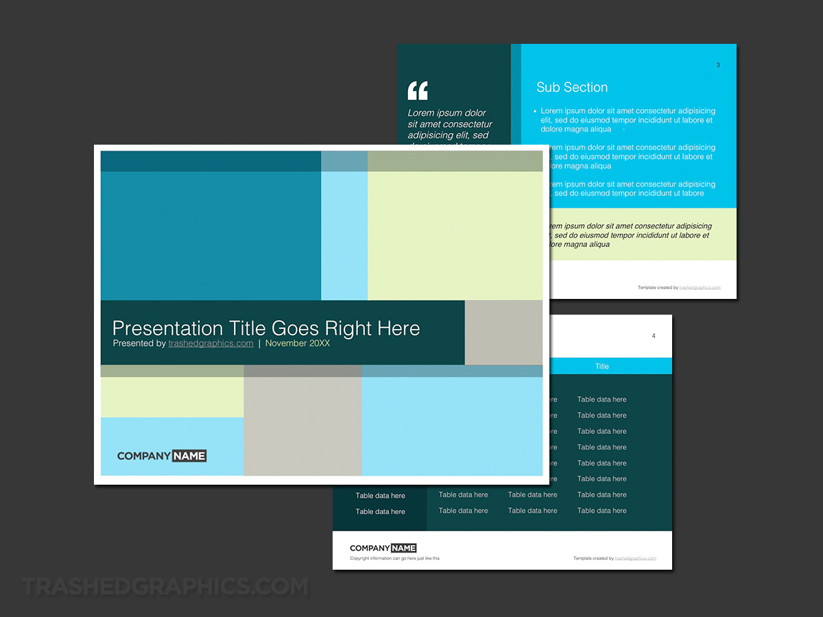 powerpoint grid theme