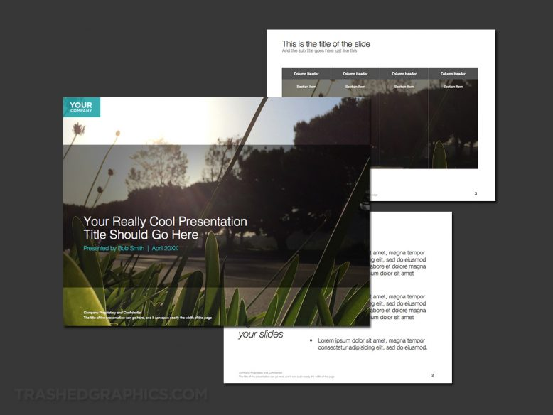 3 page powerpoint template for environmental topics