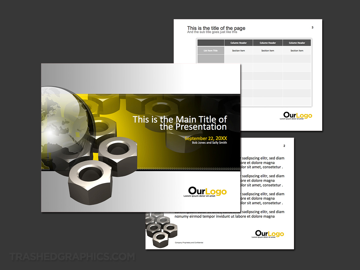 global construction powerpoint theme