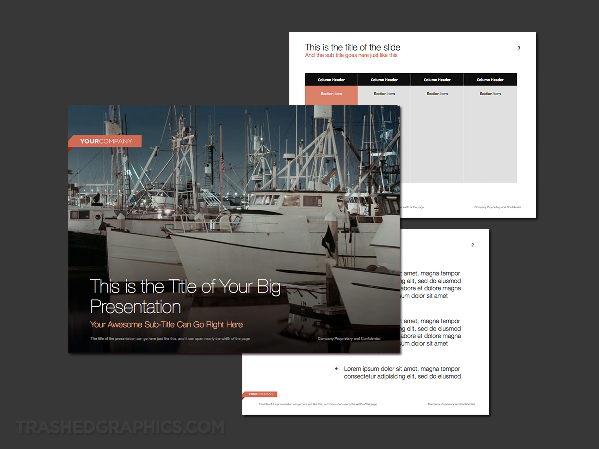 Fishing and boating theme powerpoint
