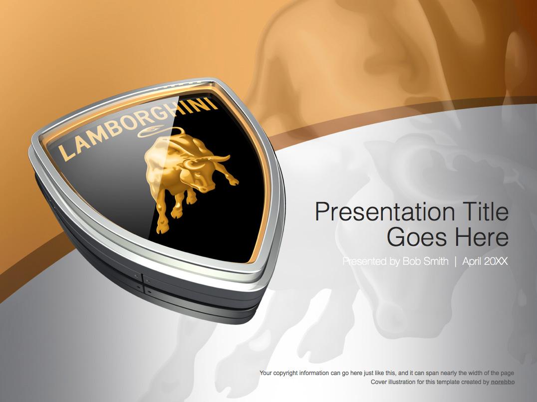 Lamborghini PowerPoint templates