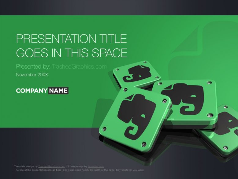 Evernote PowerPoint template