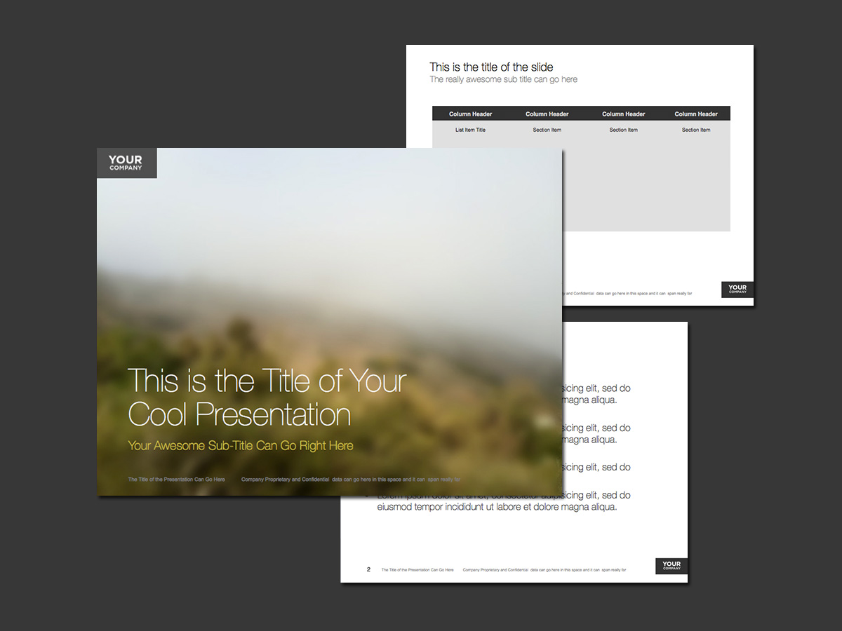 Beautiful fog PowerPoint template